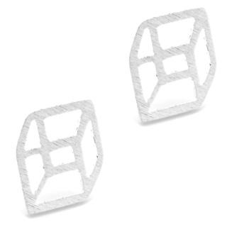 Silver Plated Geometric Stud Earrings