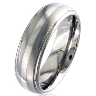 White Gold & Titanium Wedding Ring