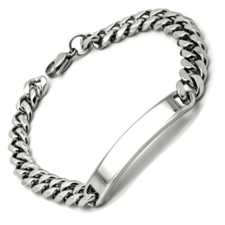 Stainless Steel 6mm Identity Bracelet