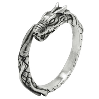 925 Slim Silver Dragon Ring