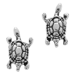 925 Silver Turtle Stud Earrings