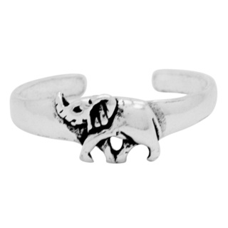 925 Silver Elephant Toe Ring