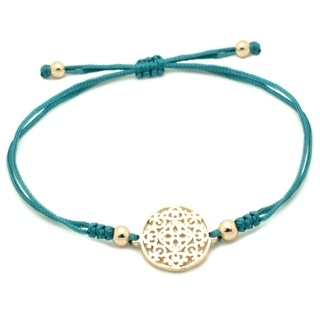 Gold Plated Turquoise Charm Bracelet