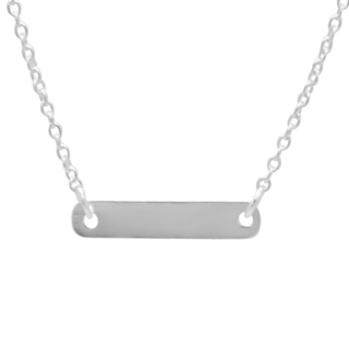 Personalised 925 Silver Bar Necklace