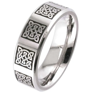 Titanium Celtic Wedding Ring