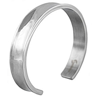 Cavern Polished Stainless Steel Bangle