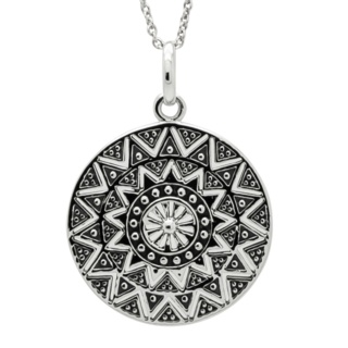 925 Silver Mandala Necklace