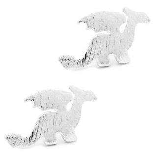 Mini Silver Plated Dragon Earrings