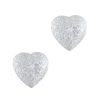 Silver Endear Mini Sparkly Earrings
