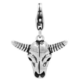 Silver Buffalo Charm