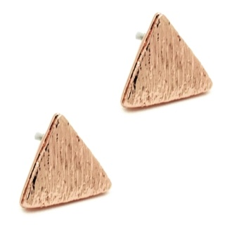 Rose Gold Plated Triangle Earrings