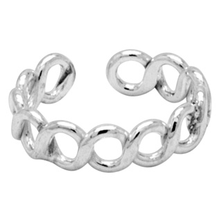 Continuos Silver Infinity Toe Ring