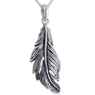 Mirage Sterling Silver Feather Necklace
