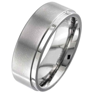 Flat Profile Titanium Ring with Bevelled Shoulders