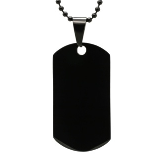 Black Stainless Steel Dog Tag