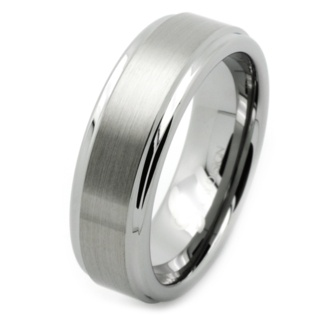 8mm Tungsten Carbide Wedding Ring