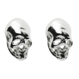 925 Silver Skull Stud Earrings