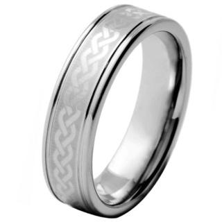 Seeker Tungsten Celtic Ring