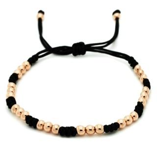 Adjustable Rose Gold Beaded Bracelet