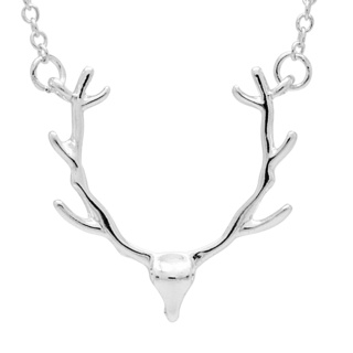 Silver Plated Stags Head Necklace