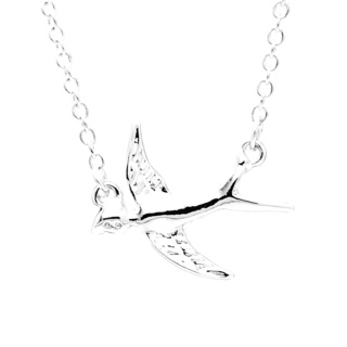 Silver Plated Swallow Necklace
