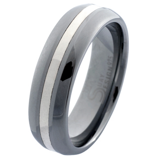 Makalu Tungsten & Silver Ring
