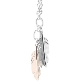 Rose Gold Stainless Steel Feather Necklace