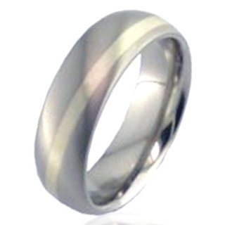 White Gold Titanium Wedding Ring