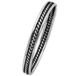Silver 925 Oxidised Ethnic Midi Ring