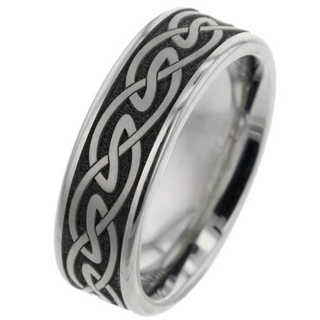 Celtic Titanium Wedding Ring