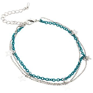 Turquoise Silver Star Bracelet