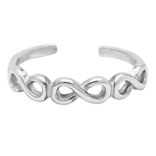 925 Silver Infinity Toe Ring