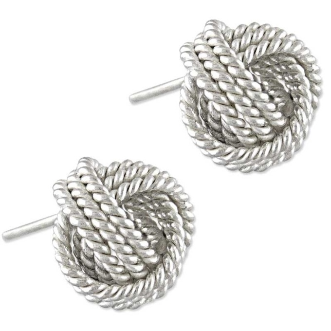 c23f27b7e Classic Silver Friendship Knot Stud Earrings | Gold & Silver ...