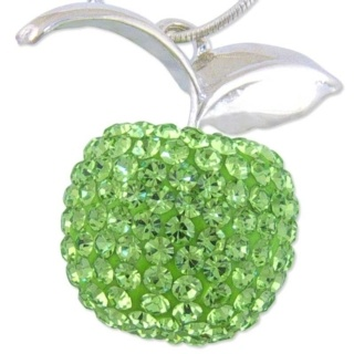 Silver Crystal Green Apple