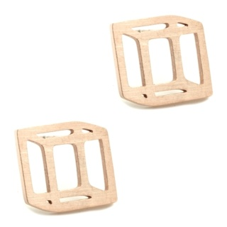 Rose Gold Geometric Cube Earrings