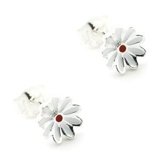 Children's Silver Daisy Earrings
