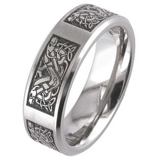 Titanium Celtic Knot Ring 2226CH-CD4