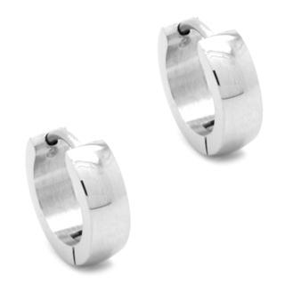 Stainless Steel Polished Huggie Earrings