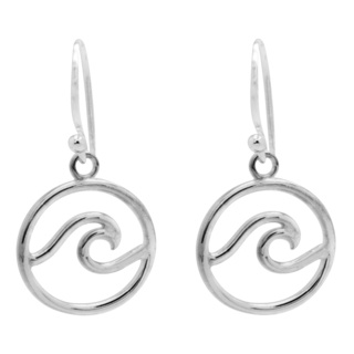 925 Silver Wave Drop Earrings