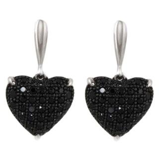 Innocence Black Silver Pave Crystal Earrings