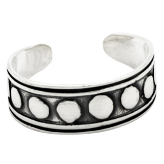 Oxidised Silver Tribal Toe Ring