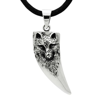 925 Silver Tooth with Wolf Design