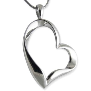 Joy Steel Heart Pendant