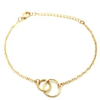 Gold Interlinking Circles Bracelet