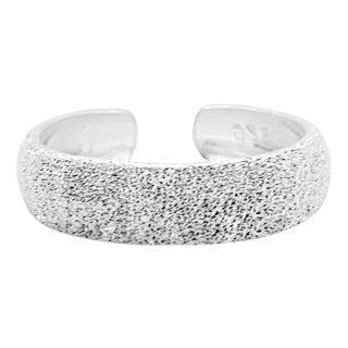 Sparkly Silver Toe Ring 4mm