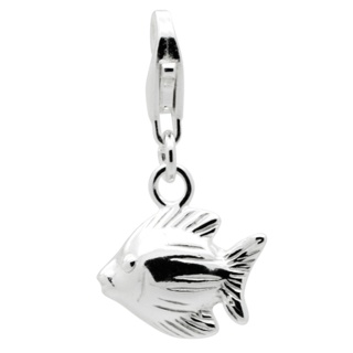 Silver Clip On Fish Charm