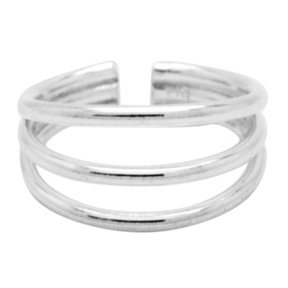 Polished 925 Silver Triple Band Toe Ring