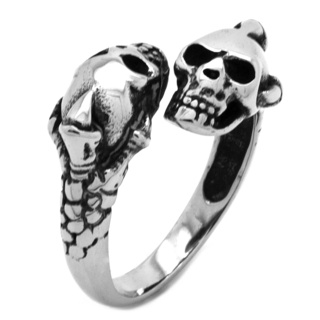 Clawed Stainless Steel Skull Ring