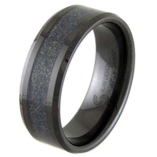 Rider Black Ceramic Ring