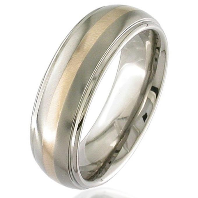 Rose Gold Titanium Wedding Ring Titanium Mens Womens Partner